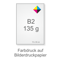 Plakat-Symbol B2 Grammatur BD Papier